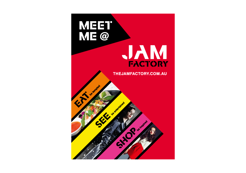 Meet me at the jam factory billboard