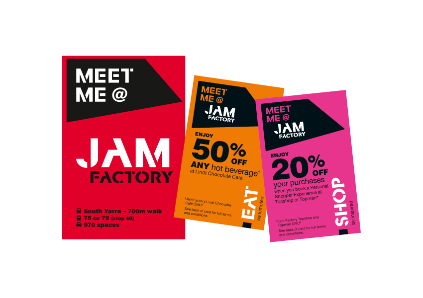 Meet me at the Jam Factory Myki wallet and discount cards