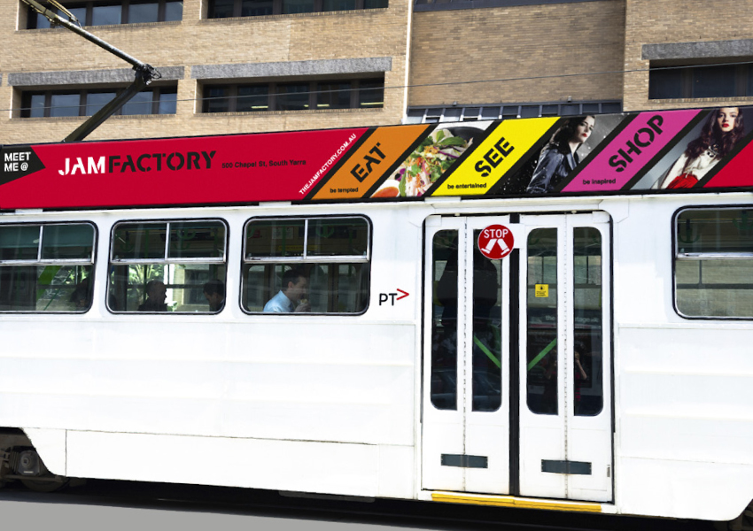 Meet me at the jam factory tram