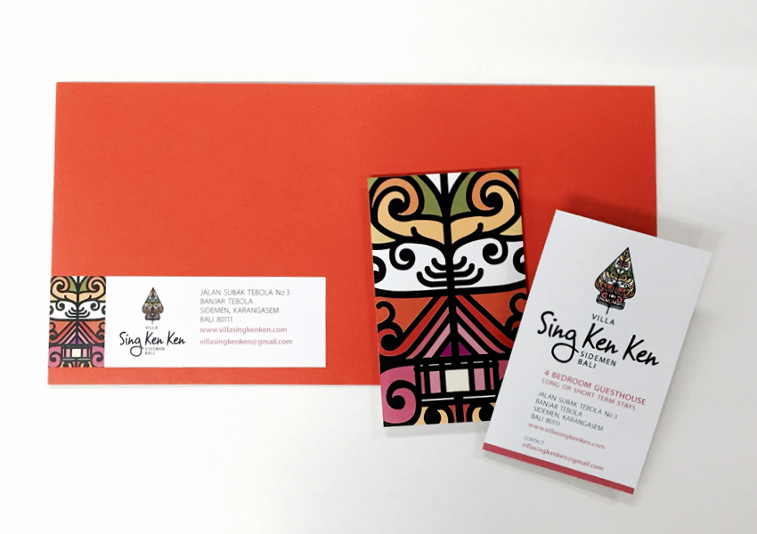 Sing Ken Ken Resort Bali Stationary by True Characters