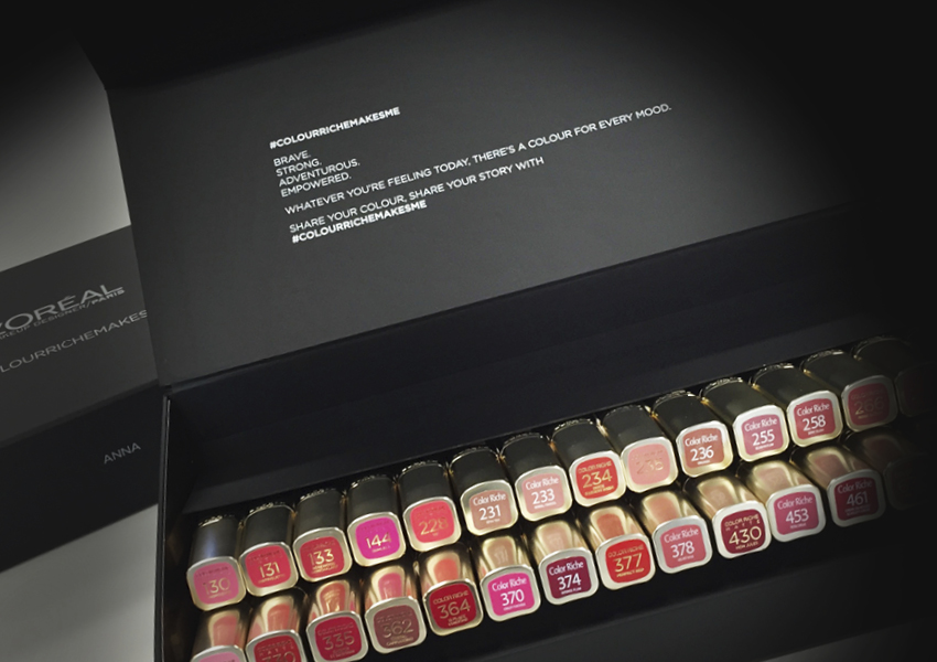 L'Oreal Paris Colour Riche product packaging by True Characters