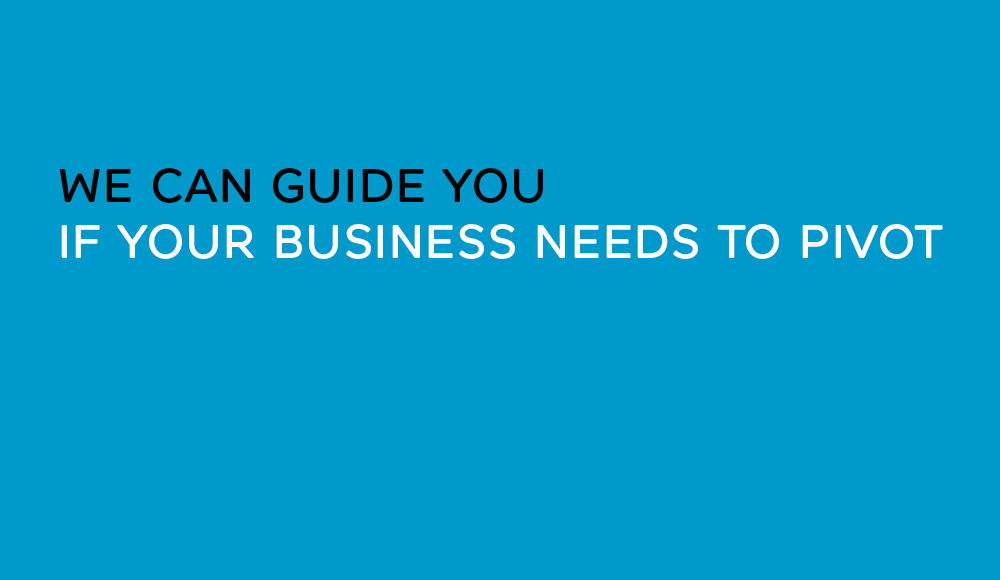Blue panel with text that reads True Characters can guide you if your business needs to pivot